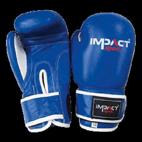 Impact Sport Traditional-Pro lederen Bokshandschoen Blauw