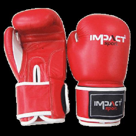 Impact Sport Traditional-Pro lederen Bokshandschoen Rood