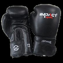 Impact Sport Lederen training Bokshandschoen Zwart