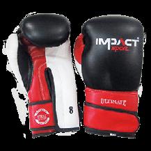 Impact Sport Allround PU Bokshandschoen Rood / Zwart