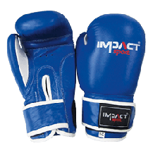 Impact Sport Traditional PU Bokshandschoen Blauw