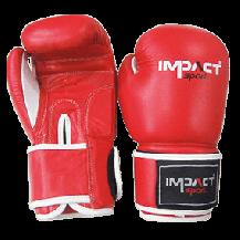 Impact Sport Traditional PU Bokshandschoen Rood